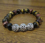 Blue, Red & Gold Tiger Eye 10mm with 12m