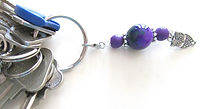 Purple Porcelain Bead Zipper Enhancers