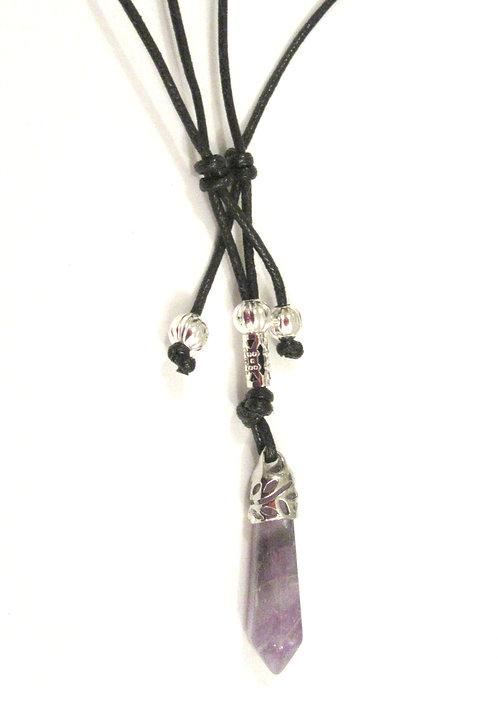 Necklace Gemstone Single Point - Small Pendant