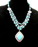 Turquoise Necklace , Bracelet & Earrings