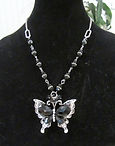 Black Butterfly with Imperial Crystals N