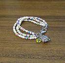 Bracelet Cream Howlite & Heishi Beads w