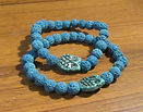 Mens or Womens Lava stone Blue with Czec