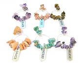 Natural Gemstone Wine Glass Charms Motiv