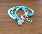 Charm Bracelets Turquoise Heishi Czech 0