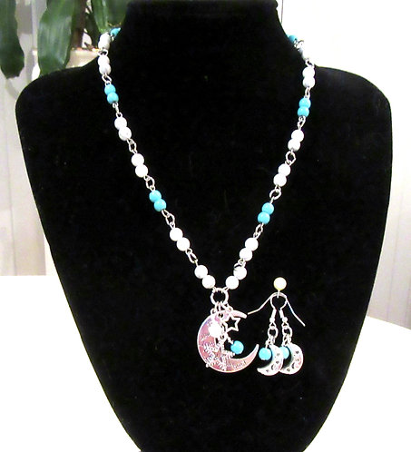 Necklace & Earring Sets Gemstone  -50cms
