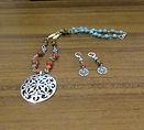 Necklace & Earring Set Gemstones, Czech
