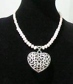 Necklace Gemstone Rose Quartz & Filigree