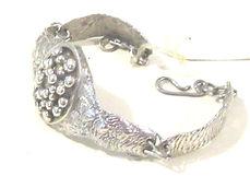 Stirling Silver Hand Beaten Bracelet (2)