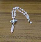 Necklace Gemstone Rose Quartz & Lotus Fl