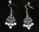 White South Seas Pearls Chandelier Earri