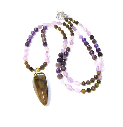 Necklaces Gemstone with Statement Pendants
