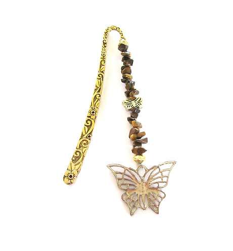 Bookmarks Gemstone- large gold or bronze - 16cms