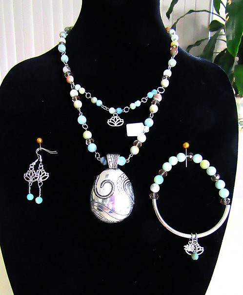 Necklace, Bracelet & Earrings Sets  Gemstone
