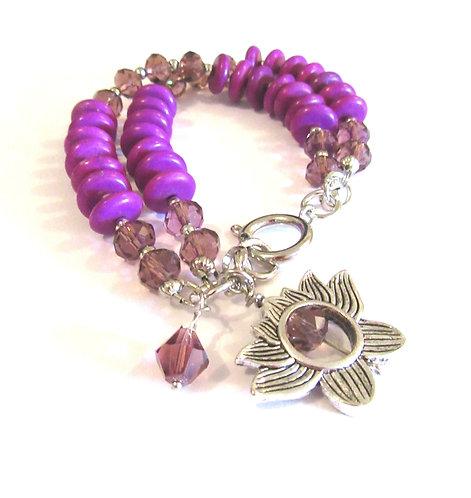 Bracelets Gemstone; Swarovski Pearls & Crystal 2 & 3 strand