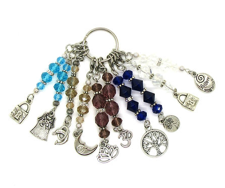 Stitch Markers for Knit & Crochet - Crystals - set of 10