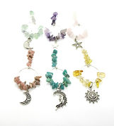 Wine Glass Charms Gemstone Celelsial 015