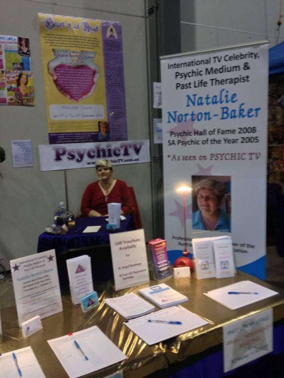 Natalie at a Psychic Fair