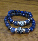 Lapis Lazuli 10-12mm Matt Cracked Jasper