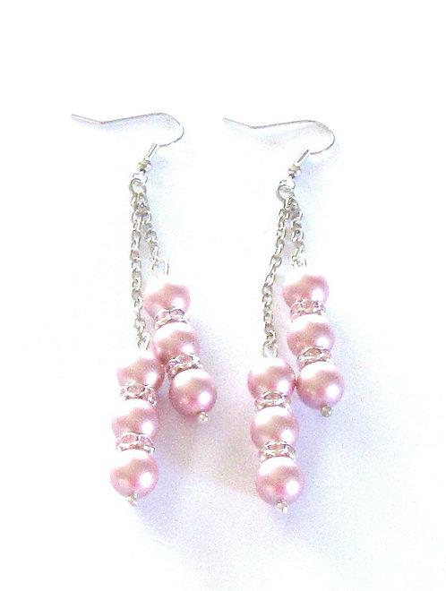 Earrings Dangle Pearls South Seas and Swarovski
