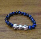 Blue Tiger Eye & Sterling Silver 925 Bra