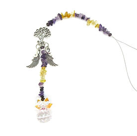 Fancy Sun Catcher Amethyst & Citrine 004