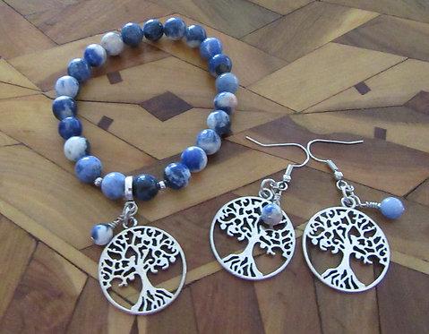 Bracelet & Earring Set Gemstones & Imperial Crystals