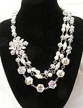 Vintage Pearl & Crystal Necklace 002   1