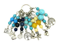 Crochet & Knit Stitch Markers - Gemstone