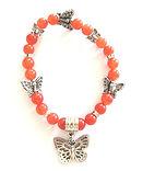 Carnelian Gemstone & Butterfly Charm Bra
