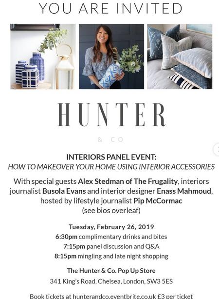 Hunter & Co, Interiors Panel Event