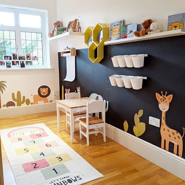 Creative area for the kids to scribble a