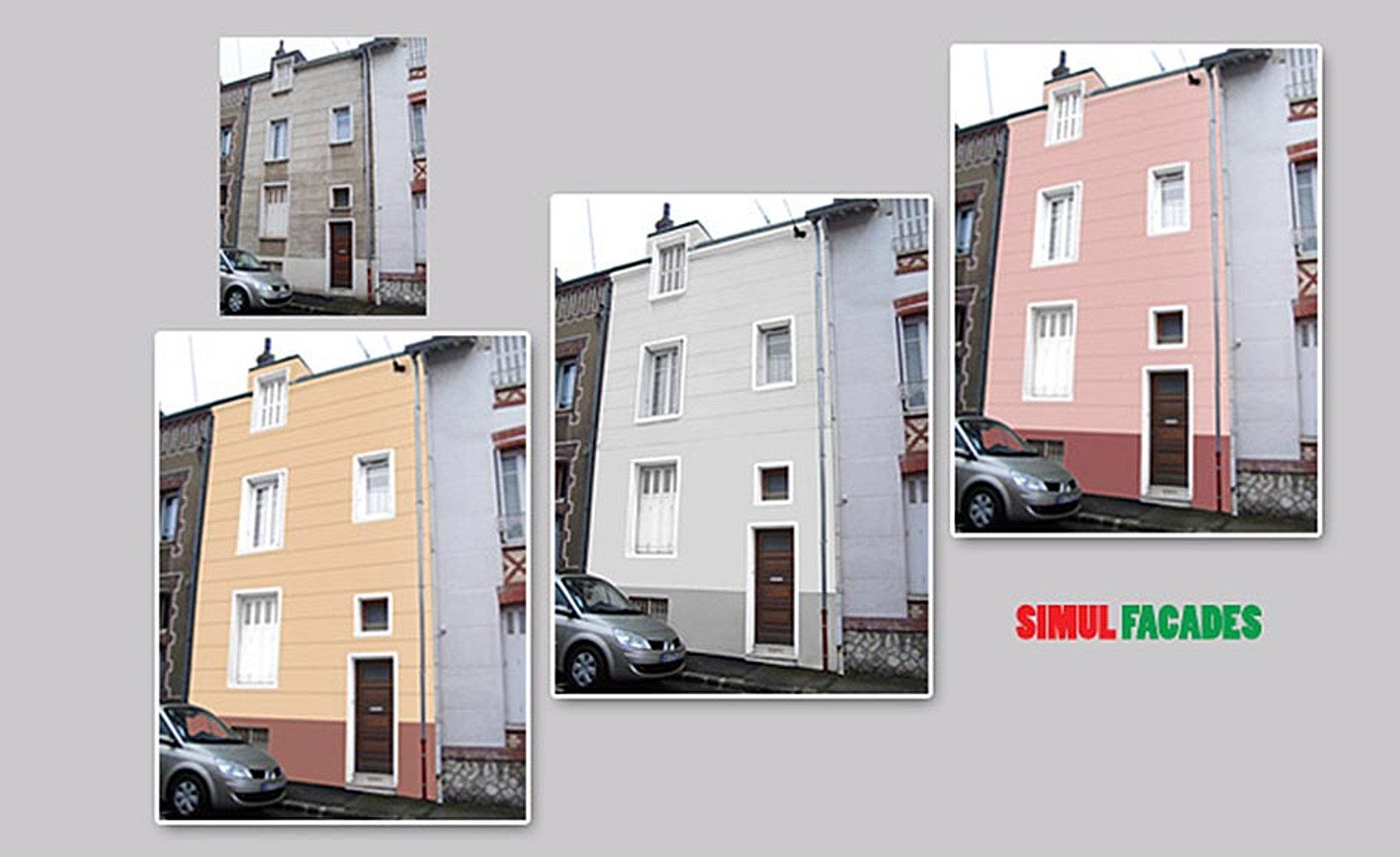 Nuancier couleur facade maison jpeg couleurs disponibles for Simulation peinture facade maison