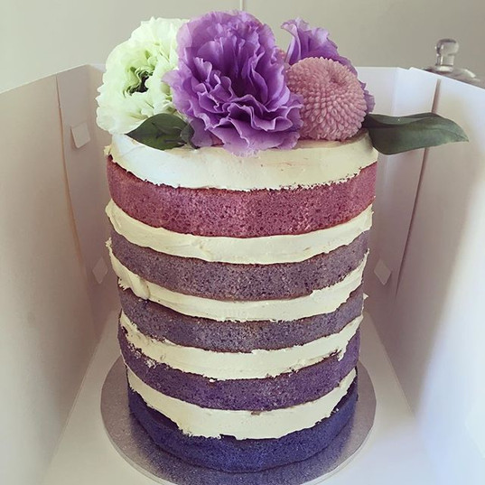 Ombre Naked Cake
