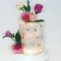 """Watercolour Texture with Florals 6"""" Tall"""