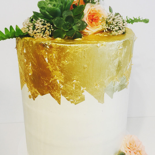 Succulents & Gold Leaf - Double Barrel