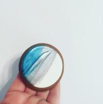 Blue & Silver Gingerbread Cookies