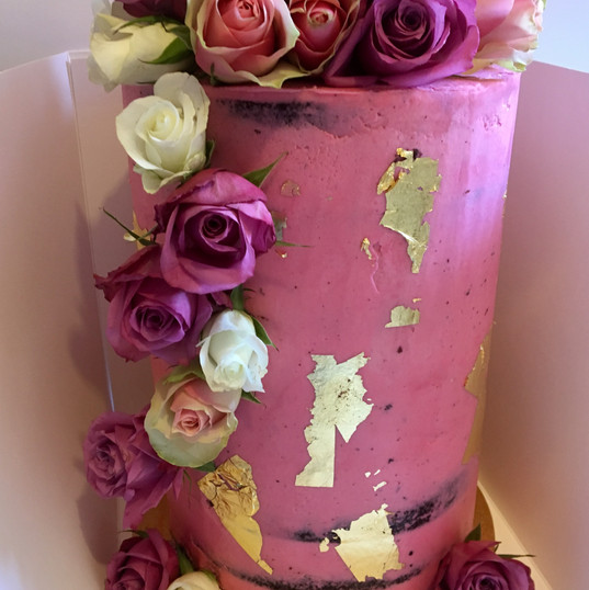 Double Barrel Wedding Cake