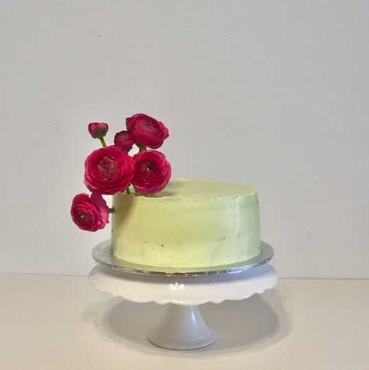 "8"" short mint cake florals"