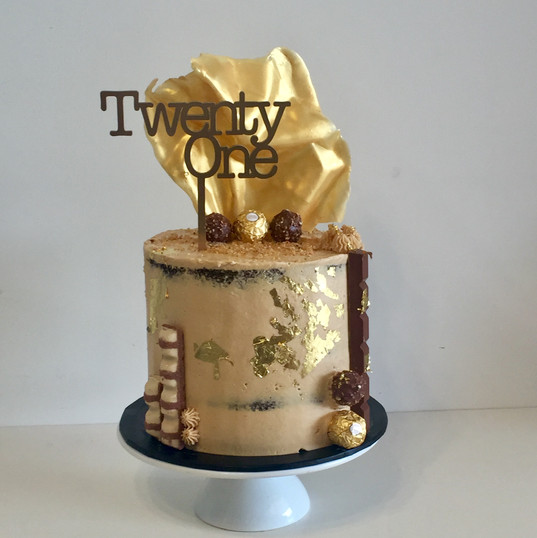 "8"" twenty first cake ferrero rocher"