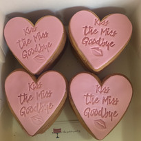 Kiss the miss goodbye cookies boxed