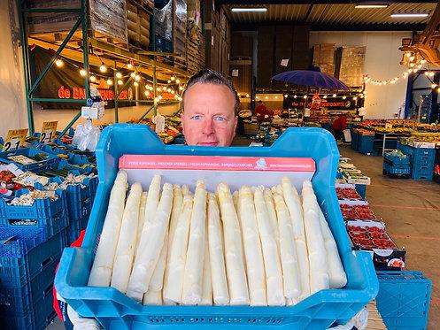 Asparagus fresh from Limburg 5 kilos AA1 super