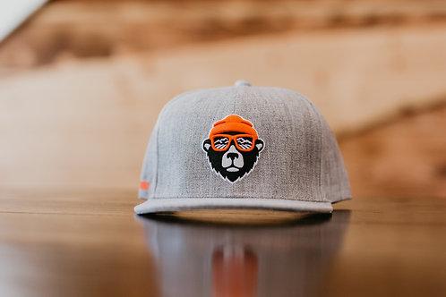 Bear Logo, Light Grey, Snapback