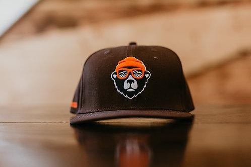 Bear Logo, Brown, Snapback