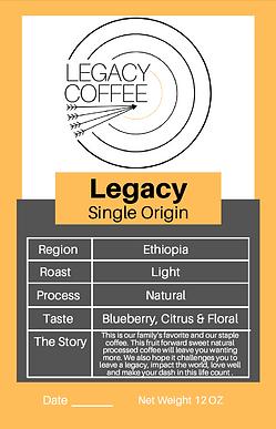 Legacy Single Origin Coffee (Ethiopia)