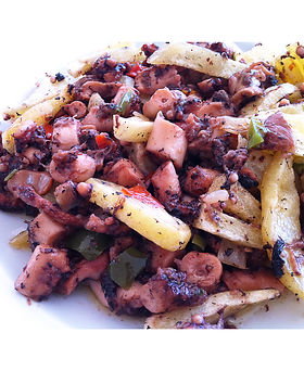 Frita de pulpo - Restaurante Carabela