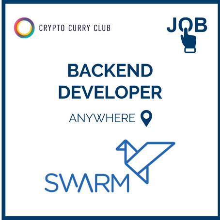 Live Job: Backend Developer, Swarm Markets