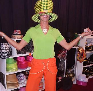 Thalita Goosen and a huge hat