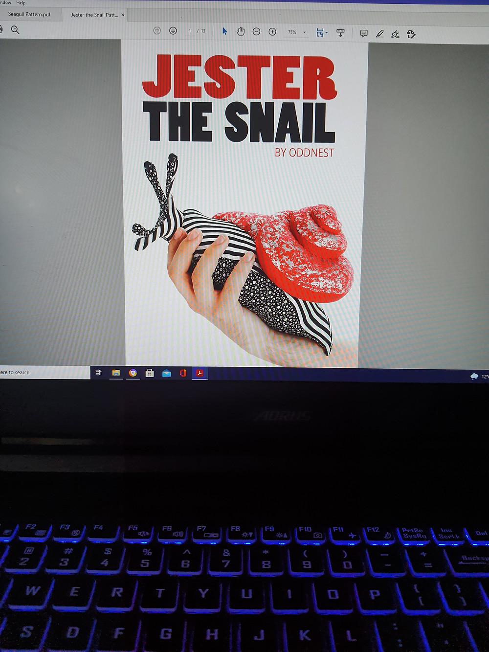 Jester the Snail Pattern