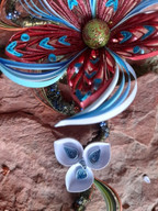 Handmade paper quilled flower